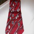 Vintage Men's Silk Tie Today's Man Italy Burgundy Print