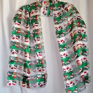 SALE Scarves Christmas Scarf Cat and Dog Theme Red White Green Silk Like