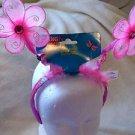 Flower Princess Headband Girl Play Costume Pink