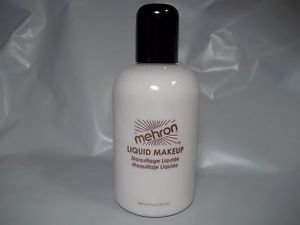 Mehron White  Liquid Face and Body Makeup Water Washable  4.5 oz