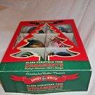 Christmas Tree Ornaments Ball Decorations 1940 designs Box of 6 Shiny Brite