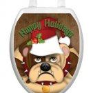 Toilet Tattoos Bulldog Holiday Toilet Lid Cover Vinyl Cover Jolly Bulldog