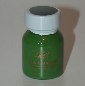 Theatrical Makeup  Green Body and Hair Mehron Liquid Makeup Free Shipping
