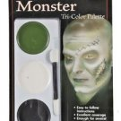 Makeup Kit Green White Black  Mehron Tri Color Makeup Palette