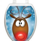 Toilet Tattoos Christmas Toilet Lid Cover Vinyl Cover Rudy