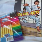Coloring Book Dover Martial Arts Include Fine Markers International Martial Arts