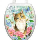 Toilet  Tattoo Lid Decor Soft Kitten Cat   Removable Reusable Bathroom Decor