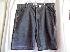 """Levi Strauss Signature  Mens Shorts Waist 46"""" 100% Cotton Dark Blue Denim"""