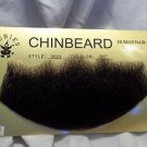 "Chin Beard Human Hair BLACK  6 "" Lace Net Back  Professional Theater 2023"