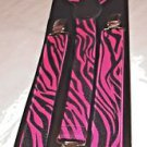 Suspenders Black and Shocking Pink Elastic with Clips Braces