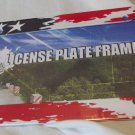 Auto Americana Frame for Tag License Sturdy  Plastic 6x12