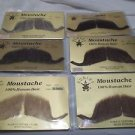 Moustache Human Hair Professional Rubies # 2014 Greys Browns Blk Large Handlebar
