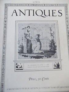 Magazine ANTIQUES  April 1923 Photographs Bonnet Box Pottery Phyfe
