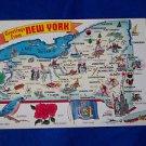 """Postcard  Map Vintage Pennsylvania 6"""" x 9"""" Postcard  1950's"""