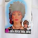Wig Rock Idol 80's Spiked Wig Theatrical Black Male or Female NEW Free Shipping