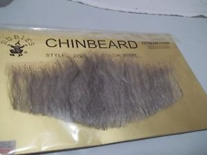 Chin Beard Human Hair Light Grey 6 Inch Lace Net Backing Professional  2023