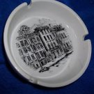 Smokers Tray Fine China Town House by Gailstyn  Vintage White Black