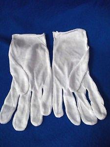 Santa  Gloves White Cotton Work  Economy