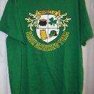 Irish Green St Patricks Men's Shirt Large IRISH DRINKING TEAM Shamrock Beer