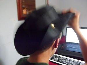 Sun Hat Western Hat   Cowboy Hat   Gaucho Hat  Black   New