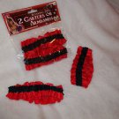 Adult Garter Armband Set Red and Black Western 20's 30's Gangster Costume