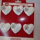Heart Decorations Craft Hearts White Plastic Mini Ornaments