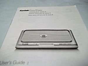 Users Guide Instruction Booklet Kodak Easy Share Camera Dock Series 3