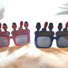 Party Glasses Happy Birthday Plastic Sunglasses Adult or Child Blue