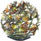 """Wall Art School of Painted Fish Hand Made in Haiti 24"""" Round Eyecatcher"""