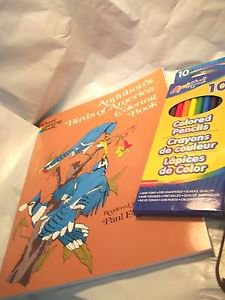 Coloring Book and Markers for Adults Audubon  Birds of America Dover