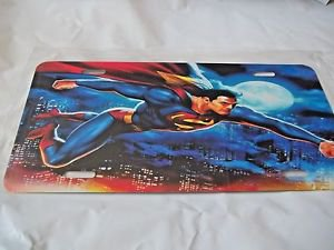 Superman License Auto Plate  Superman Flying Graphic Bright License Plate