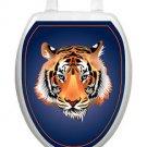 Tiger   Orange  Toilet Tattoos Bathroom Seat Lid   Decoration Vinyl Reusable