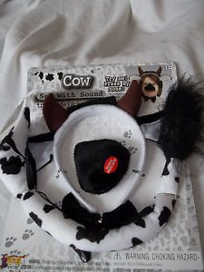 Cow Set Toy Plays and Pagents Ears and Tail and Nose that Makes Noise and Bow T