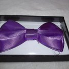 "Bow Tie Purple  4 3/4"" x 3"" Polyester Hook and Clip Free Gift Box"
