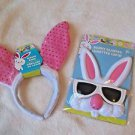 Rabbit Ears and Rabbit  Bunny Sunglasses Childrens  Blue or Pink