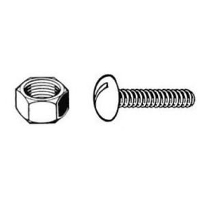 Nuts and Bolts Black Stainless Steel Package of 12 Sets