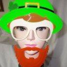 Sun Stache Lepruchan Hat Irish  St Patricks  Novelty Glasses with Beard Mustache