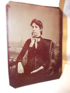 Tintype Daguerrotype  Picture Young Woman Sitting 1800's