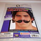 "Moustache Full Winged Human Hair Black or Brown or Gray 5 1/2"" Forum"