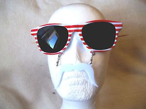 American Sun Staches Patriotic Sunglasses   with Mustache as seen on TV USA