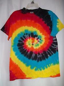 Costume Tie Tye Dye Shirt Eclipse 100% Cotton Adults    Ships Fast