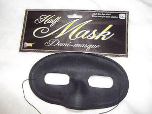 Eye Mask Black Adult Men's or Womans Mardi Fabric