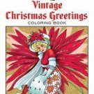 Adult Coloring: Creative Haven Vintage Christmas Greetings Coloring Book