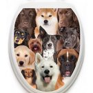 Toilet Tattoos Dogs  Galore  Lid Cover  Decor Silver Reusable Vinyl 1127