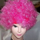 Wig Afro Pink Wig Fuzzy Fun Wig Party Afro Save a Life