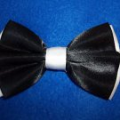 "Bow Tie Black and White Double Adj.4 3/4"" x 3""  Adjustable  Hook Latch Free  Box"