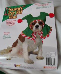 Costume Animal Dog   Elf Pixie Green Red Gold Pet Elf