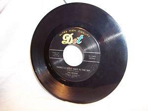 Record Vtg 45 RPM Dot Ultra High Fidelity Pat Boone Billy Vaughn Goldmine