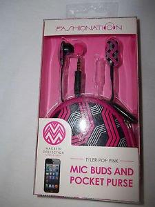 Headphones Fashionation Headphones Ear Tyler Pop Pink With Case