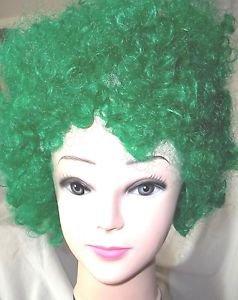 Wig Afro Green Wig Fun Party Wig Adjustable